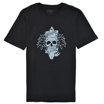 Clothing Boy Short-sleeved t-shirts Quiksilver NIGHT SURFER Black