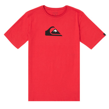 Clothing Boy Short-sleeved t-shirts Quiksilver COMP LOGO Red
