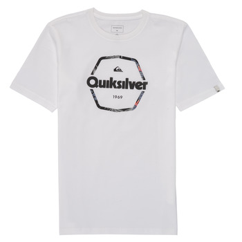 Clothing Boy Short-sleeved t-shirts Quiksilver HARD WIRED White