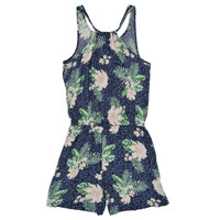 Clothing Girl Jumpsuits / Dungarees Roxy IN THE MOUNTAIN Multicolour