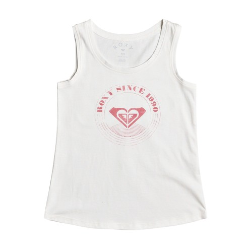 Clothing Girl Tops / Sleeveless T-shirts Roxy THERE IS LIFE LOGO White