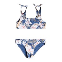 Clothing Girl Bikinis Roxy SWIM LOVERS BRALETTE SET Multicoloured