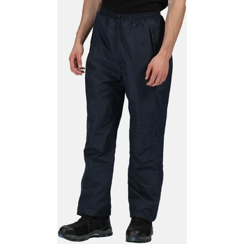 Clothing Men Tracksuit bottoms Professional Linton Waterproof Breathable Lined Overtrousers Navy Blue Blue