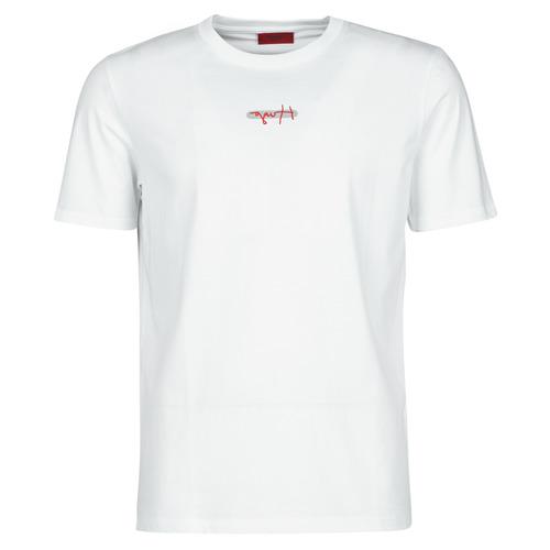 Clothing Men Short-sleeved t-shirts HUGO DURNED White