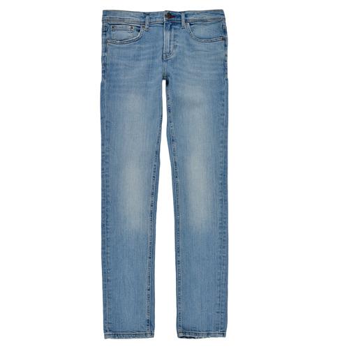Clothing Boy Skinny jeans Teddy Smith FLASH Blue