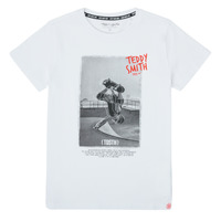 Clothing Boy Short-sleeved t-shirts Teddy Smith T-CRAIG White