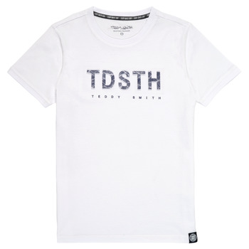 Clothing Boy Short-sleeved t-shirts Teddy Smith T-MAX White