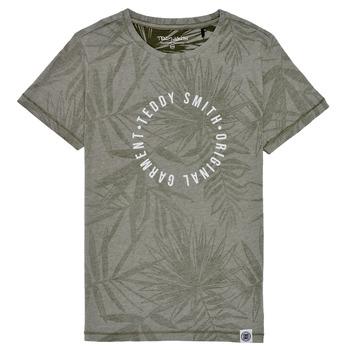 Clothing Boy Short-sleeved t-shirts Teddy Smith T-OTYS Kaki