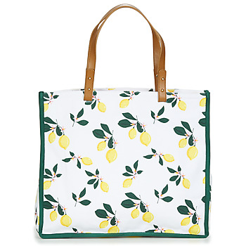 Bags Women Shopping Bags / Baskets Petite Mendigote CLEA LEMON White