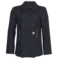 Clothing Men Coats Schott PEACOAT Marine