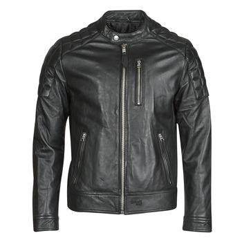 Clothing Men Leather jackets / Imitation leather Schott LCMARTIN Black