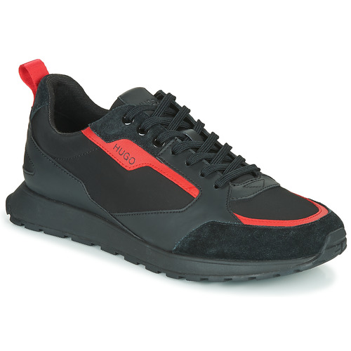 Shoes Men Low top trainers HUGO ICELIN TUNN NYPU Black / Red