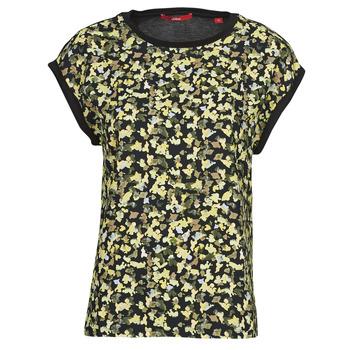 Clothing Women Tops / Blouses S.Oliver 14-1Q1-32-7164-99B0 Black / Multicolour