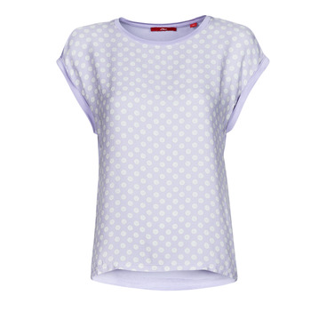 Clothing Women Short-sleeved t-shirts S.Oliver 14-1Q1-32-6972-48B2 Blue