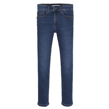 Clothing Boy Skinny jeans Calvin Klein Jeans ESSENTIAL ROYAL BLUE STRETCH Blue