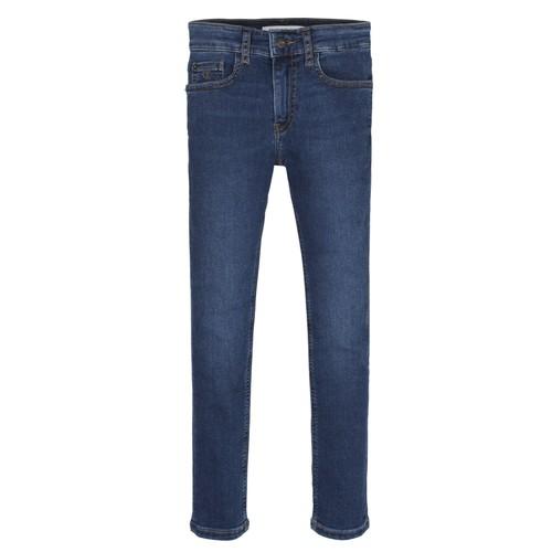 Clothing Boy Skinny jeans Calvin Klein Jeans ESSENTIAL ROYAL BLUE STRETCH Blue