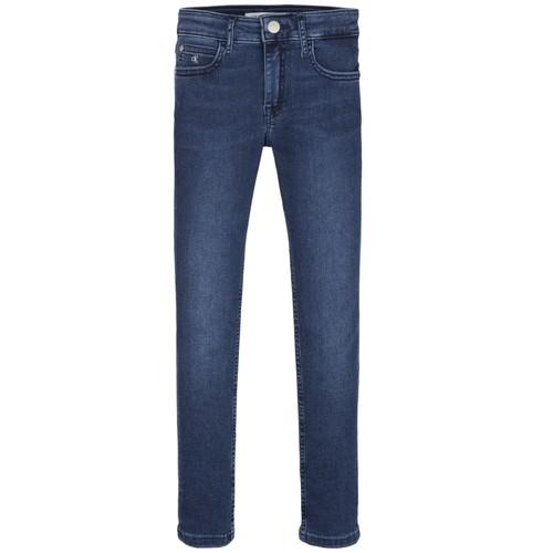 Clothing Girl Skinny jeans Calvin Klein Jeans SKINNY ESS ROYAL BLUE Blue