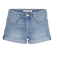 Clothing Girl Shorts / Bermudas Calvin Klein Jeans SLIM SHORT ESS Blue