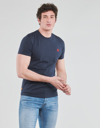 Clothing Men Short-sleeved t-shirts Timberland SS DUNSTAN RIVER POCKET TEE SLIM Marine
