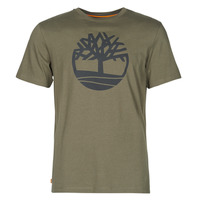 Clothing Men Short-sleeved t-shirts Timberland SS KENNEBEC RIVER BRAND TREE TEE Kaki