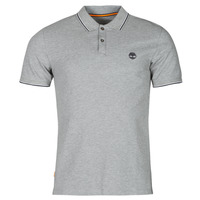 Clothing Men Short-sleeved polo shirts Timberland SS MILLERS RIVER TIPPED PIQUE SLIM Grey