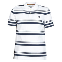 Clothing Men Short-sleeved polo shirts Timberland SS ZALAND RIVER YS STRIPE POLO REGULAR White / Marine