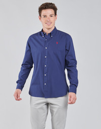 Clothing Men Long-sleeved shirts U.S Polo Assn. KUSTAVI SHIRT RF-BD Blue