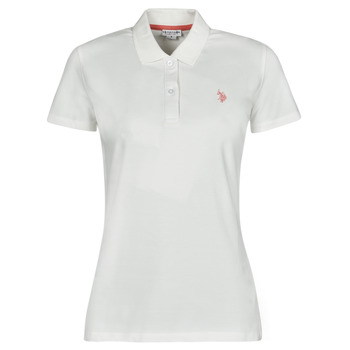 Clothing Women Short-sleeved polo shirts U.S Polo Assn. LOGO POLO SS White