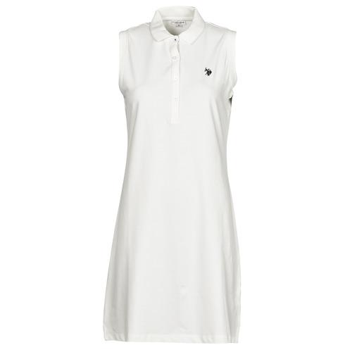 Clothing Women Short Dresses U.S Polo Assn. AMY DRESS POLO SLEEVELESS White