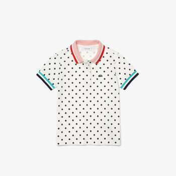 Clothing Girl Short-sleeved polo shirts Lacoste PJ0259-2CQ White