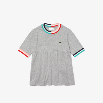 Clothing Girl Short-sleeved t-shirts Lacoste TJ0241-SRR Grey