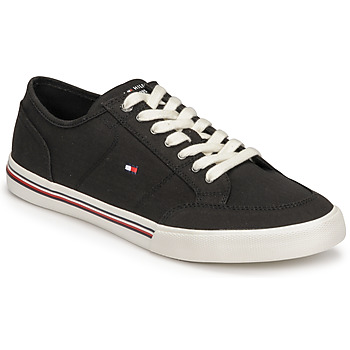 Shoes Men Low top trainers Tommy Hilfiger CORE CORPORATE TEXTILE SNEAKER Black