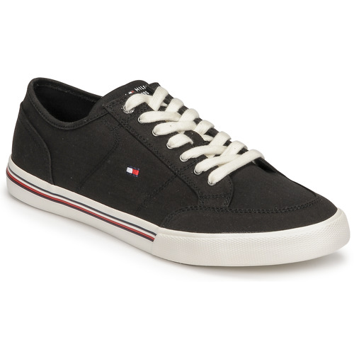 Shoes Men Low top trainers Tommy Hilfiger CORE CORPORATE TEXTILE SNEAKER Black