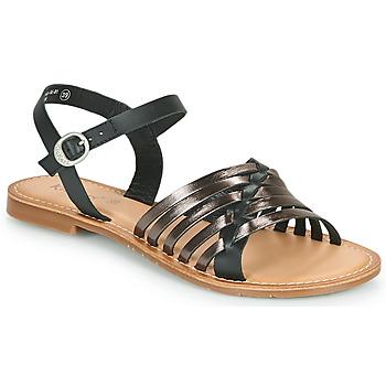 Shoes Women Sandals Kickers ETCETERA Black / Silver