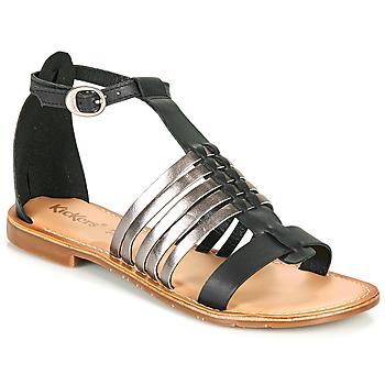 Shoes Women Sandals Kickers ETIKET Black / Silver