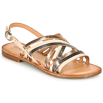 Shoes Women Sandals Kickers ETRUSK Pink / Metal / Silver