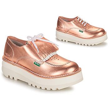 Shoes Women Derby Shoes Kickers KICKOUCLASS Pink / Metal