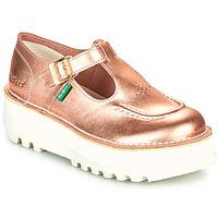 Shoes Women Flat shoes Kickers KICKOUSTRAP Pink / Metal