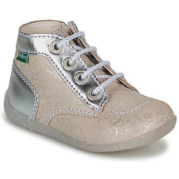 Shoes Girl Mid boots Kickers BONZIP-2 Silver