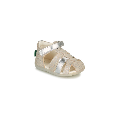 Shoes Girl Sandals Kickers BIGFLO-2 Silver