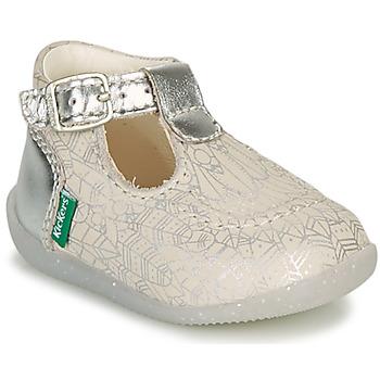 Shoes Girl Flat shoes Kickers BONBEK-2 Silver