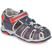 Shoes Boy Sandals Kickers KAWA Marine / Red