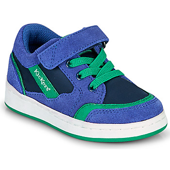 Shoes Boy Low top trainers Kickers BISCKUIT Blue