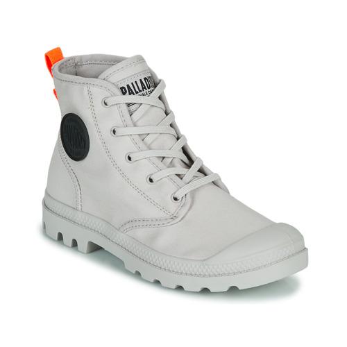 Shoes Women Mid boots Palladium PAMPA HI TWILL Grey
