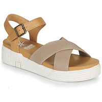 Shoes Women Sandals Palladium Manufacture EGO SANDALES 03 Beige