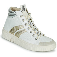 Shoes Women Hi top trainers Palladium Manufacture TEMPO 03 TXT White