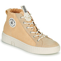 Shoes Women Hi top trainers Palladium Manufacture TEMPO 05 KRT Beige