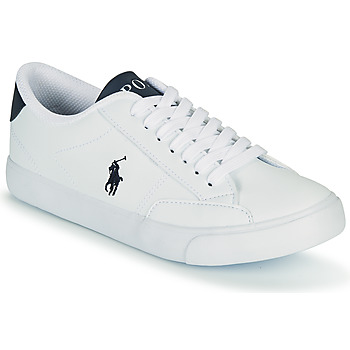 Shoes Children Low top trainers Polo Ralph Lauren THERON IV White / Marine