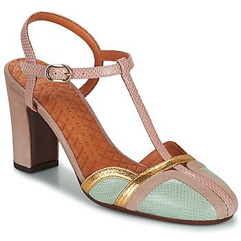 Shoes Women Heels Chie Mihara INMA Beige / Pink / Gold