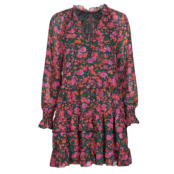 Clothing Women Short Dresses Moony Mood  Black / Pink